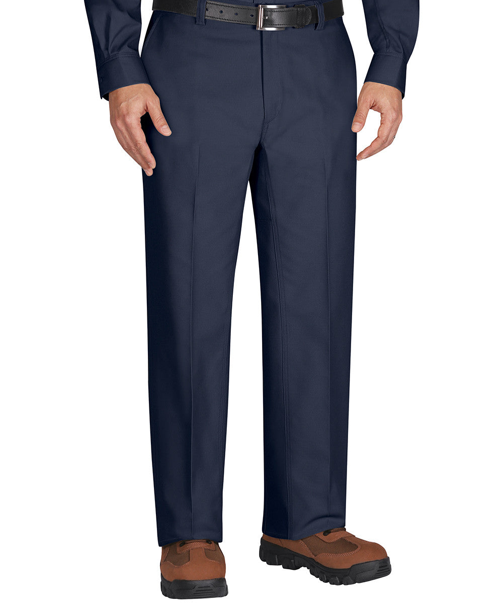 Navy Blue Dickies Flat Front Work Pants Shown in UniFirst Uniform Rental Service Catalog