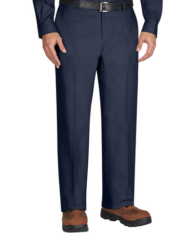 Navy Blue Wrangler Workwear™ Flat Front Work Pants Shown in UniFirst Uniform Rental Service Catalog