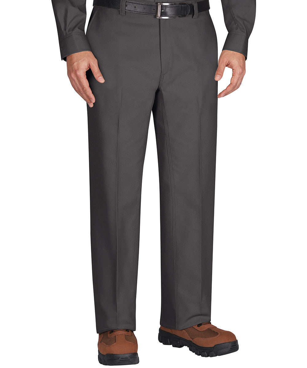 Charcoal Dickies Flat Front Work Pants Shown in UniFirst Uniform Rental Service Catalog