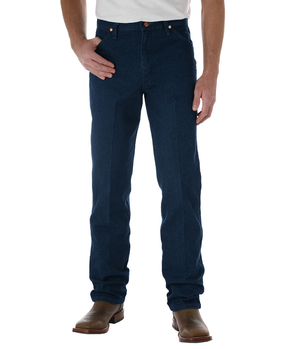 Navy Blue Wrangler® Cowboy Cut Jeans Shown in UniFirst Uniform Rental Service Catalog