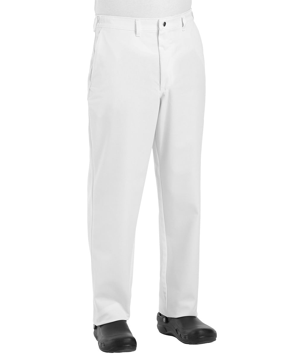 White Comfort Fit Chef Pants Shown in UniFirst Uniform Rental Service Catalog