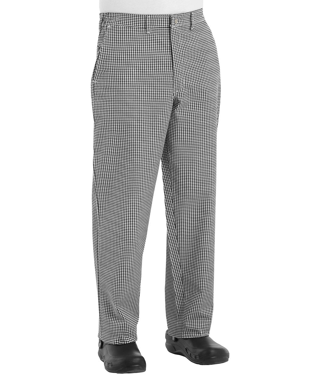 Black & White Checkered Comfort Fit Chef Pants Shown in UniFirst Uniform Rental Service Catalog