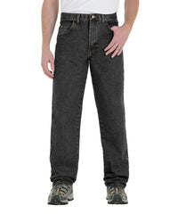 Black Wrangler® Relaxed Fit Jeans Shown in UniFirst Uniform Rental Service Catalog