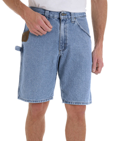 Light Blue RIGGS™ by Wrangler® Carpenter Shorts Shown in UniFirst Uniform Rental Service Catalog