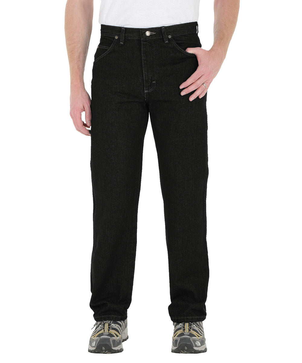Black Wrangler® Classic Fit Jeans  Shown in UniFirst Uniform Rental Service Catalog