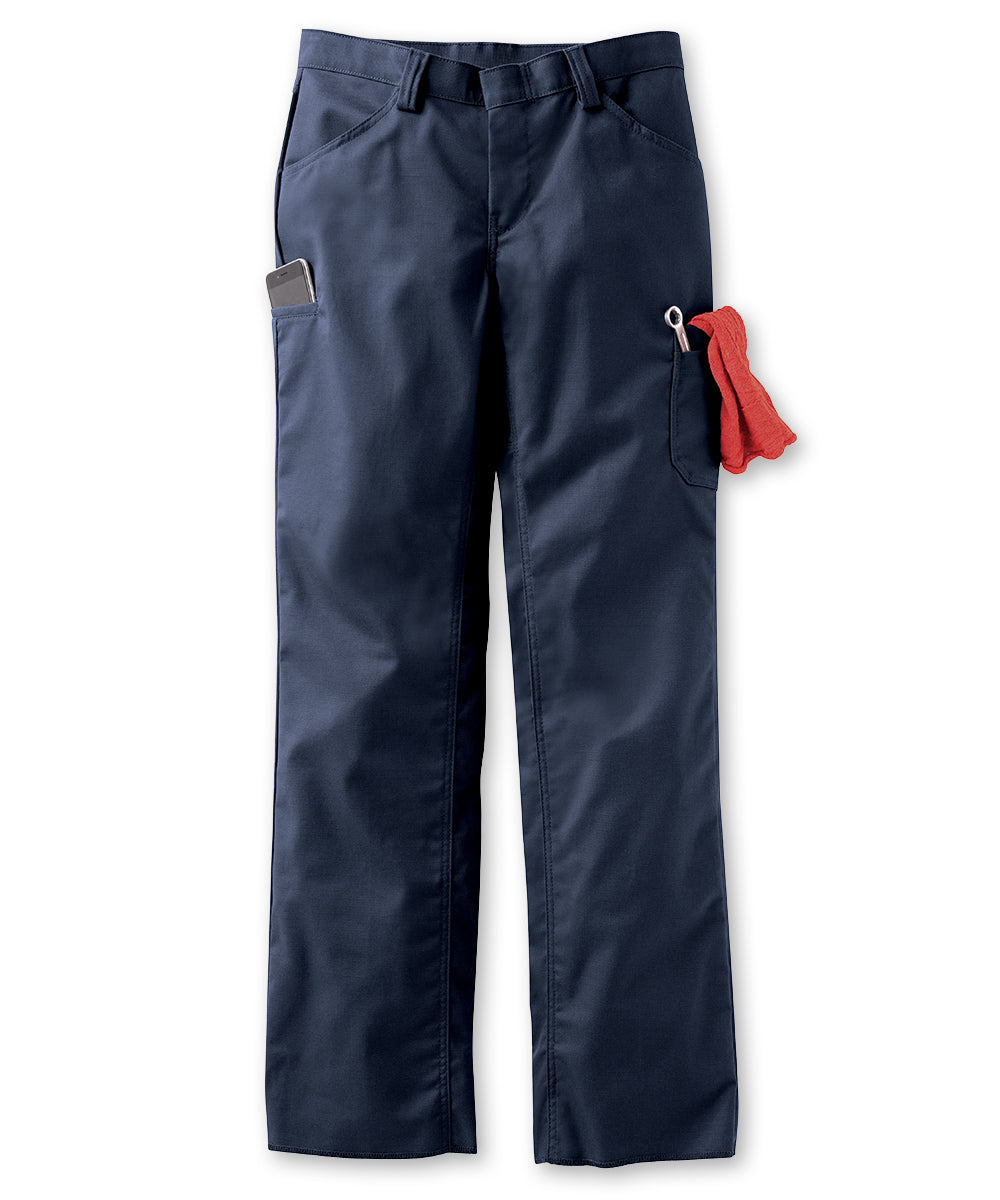 Women's ZeroSkratch™ Lightweight Crew Pants (Navy) as shown in the UniFirst Uniform Rental Catalog.
