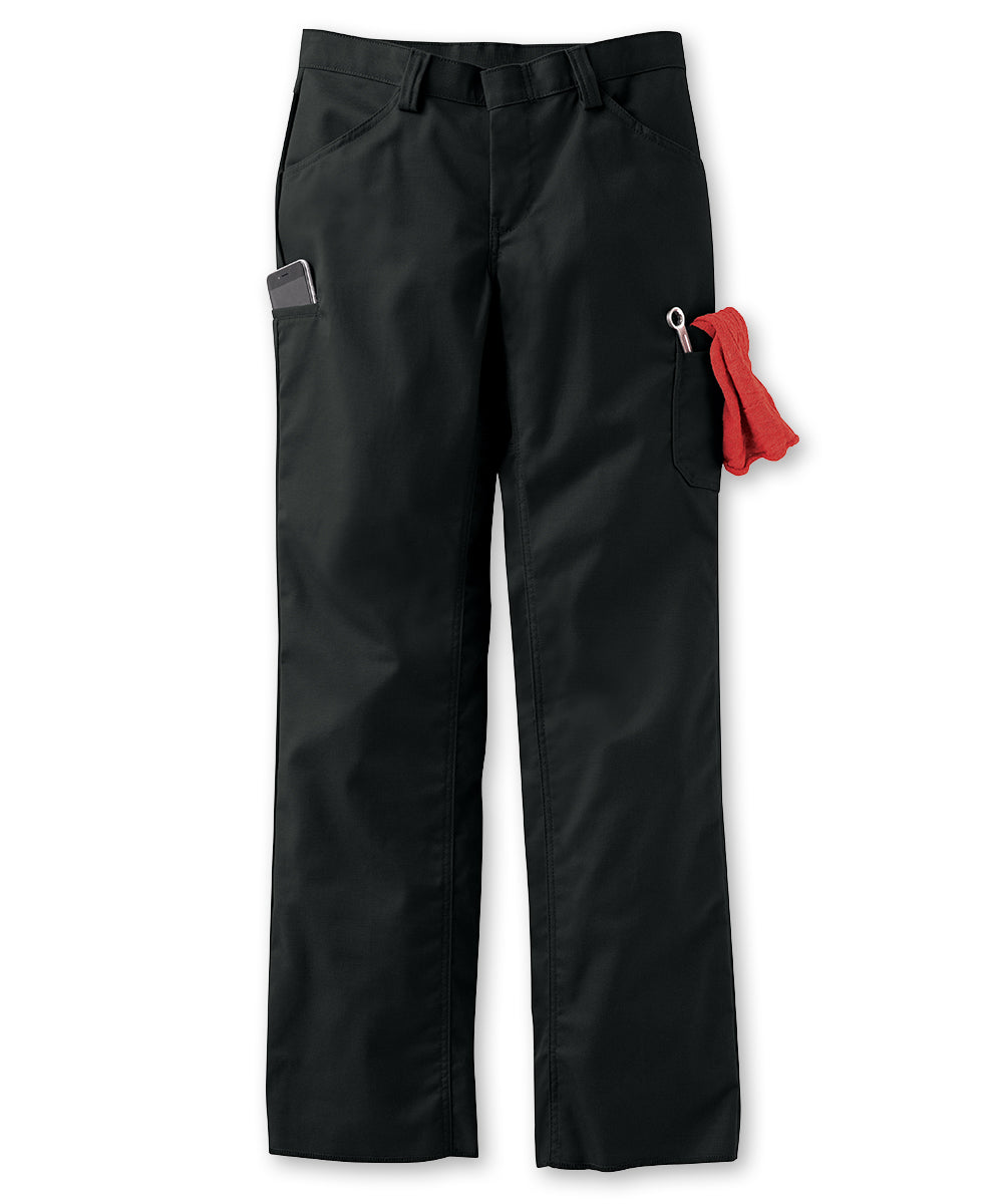 Women's ZeroSkratch™ Lightweight Crew Pants (Black) as shown in the UniFirst Uniform Rental Catalog.