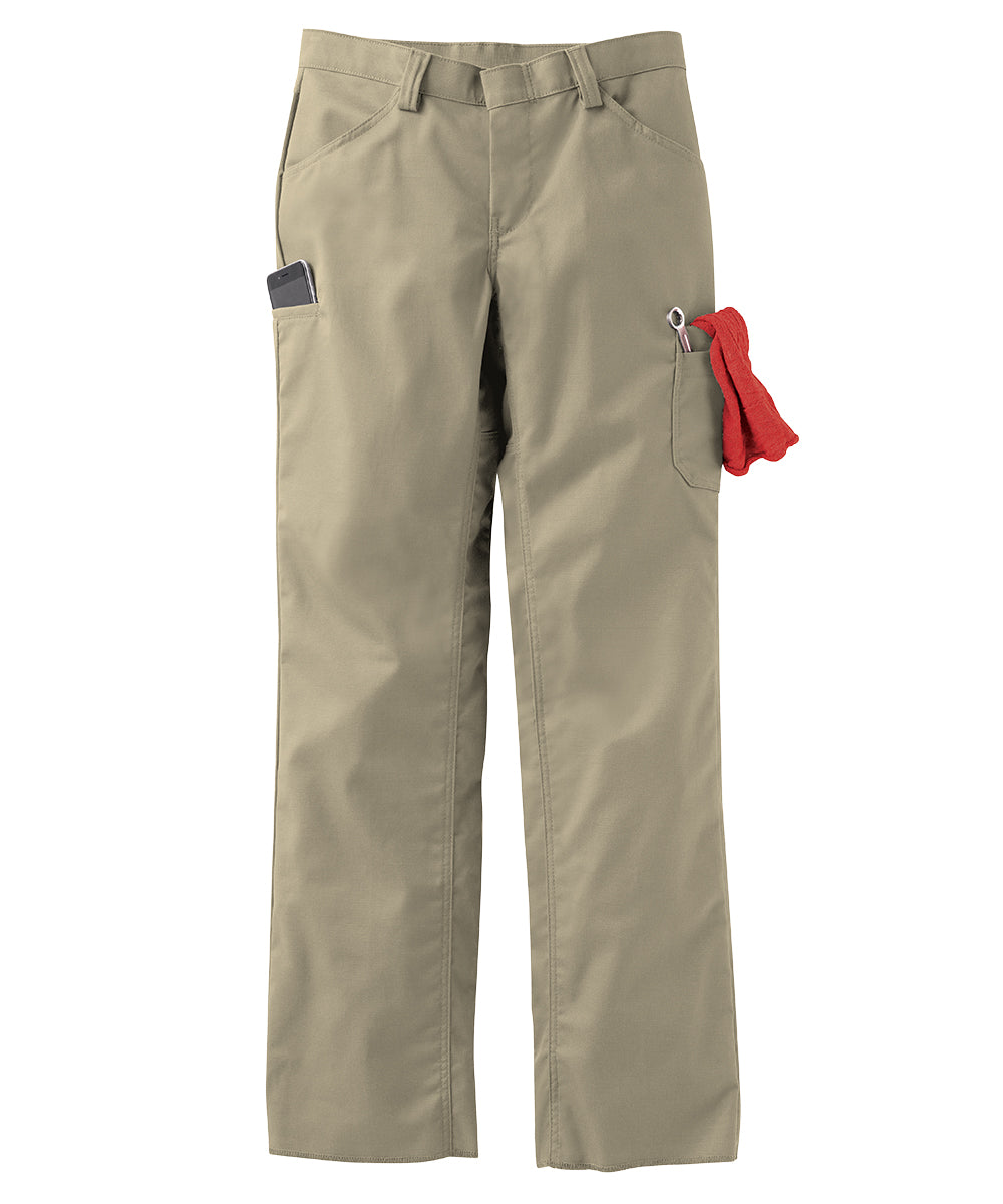 Women's ZeroSkratch™ Lightweight Crew Pants (Khaki) as shown in the UniFirst Uniform Rental Catalog.