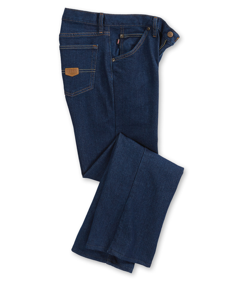 Women's Dura-Kap® Flex Work Jeans (Prewashed Indigo) as Shown in the UniFirst Uniform Rental Catalog