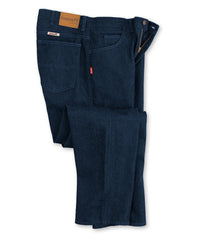Navy Blue Men's Armorex FR® Arc Rated Flame Resistant Jeans Shown in UniFirst Uniform Rental Service Catalog