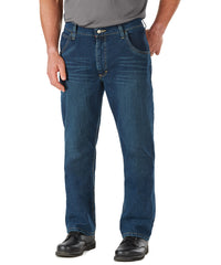 Bulwark® FR Flame Resistant Straight-Fit Jeans with Stretch (Indigo Denim) as shown in the UniFirst Uniform Rental Catalog.