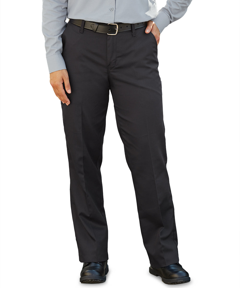 Women's Mimix Utility Pants in Black as shown in the UniFirst Uniform Rental Catalog
