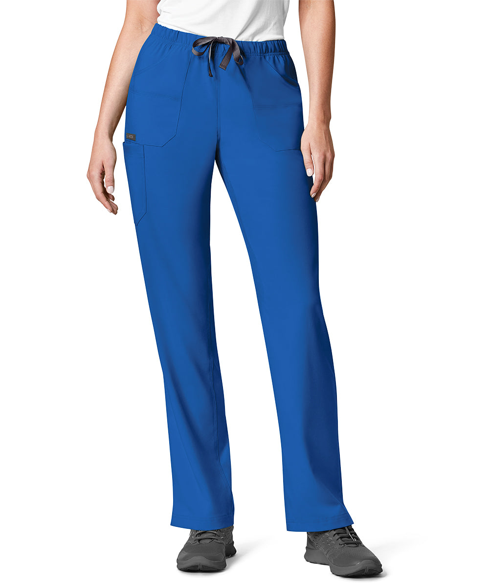 Women's WonderWink INDY™ Utility Cargo Scrub Pants (Royal Blue) as shown in the UniFirst Uniform Rental Catalog.