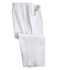 White SofTwill® No Pocket Service Pants Shown in UniFirst Uniform Rental Service Catalog