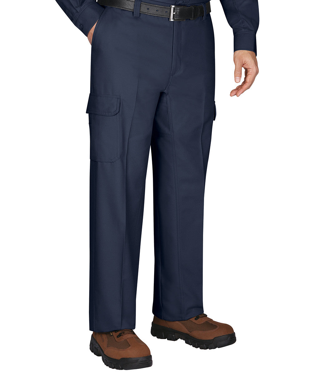 Navy Blue Wrangler WorkwearTM Cargo Pants Shown In UniFirst Uniform Rental Service Catalog