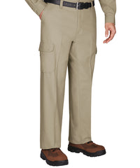 Khaki Wrangler Workwear™ Cargo Pants  Shown in UniFirst Uniform Rental Service Catalog