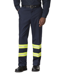 Navy/Yellow SofTwill® Enhanced Visibility Work Pants Shown in UniFirst Uniform Rental Service Catalog