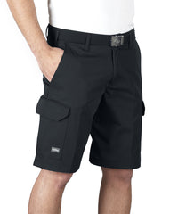 Black SofTwill® Cargo Shorts Shown in UniFirst Uniform Rental Service Catalog
