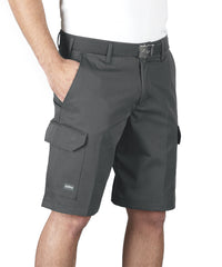 Charcoal SofTwill® Cargo Shorts Shown in UniFirst Uniform Rental Service Catalog