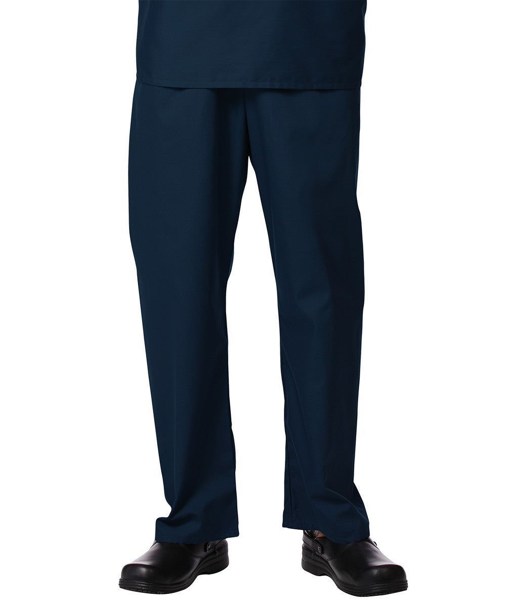Navy Blue Unisex Scrub Pants Shown in UniFirst Uniform Rental Service Catalog