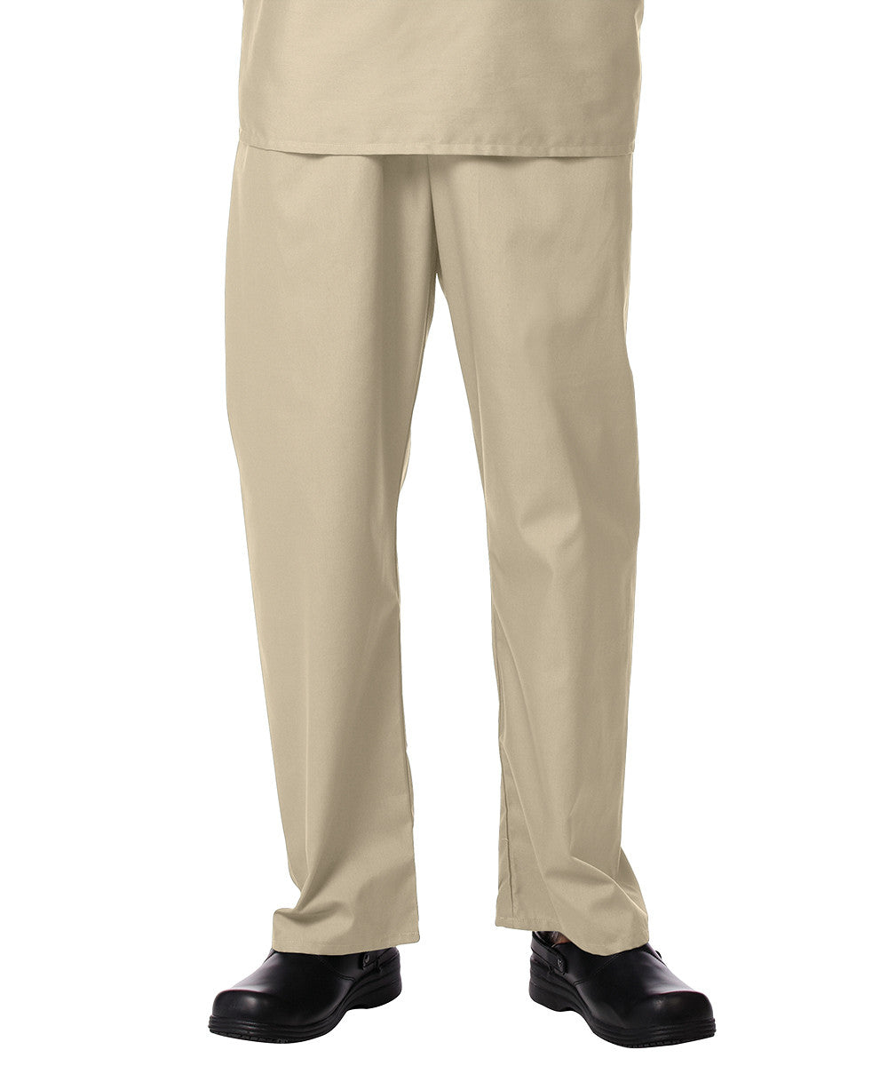 Tan Unisex Scrub Pants Shown in UniFirst Uniform Rental Service Catalog