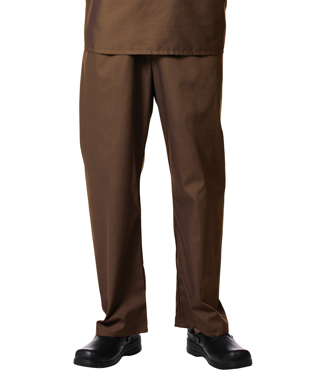 Brown Unisex Scrub Pants Shown in UniFirst Uniform Rental Service Catalog