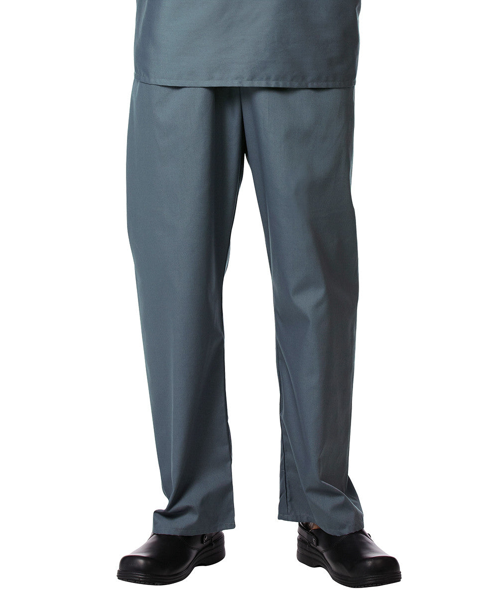 Pewter Unisex Scrub Pants Shown in UniFirst Uniform Rental Service Catalog