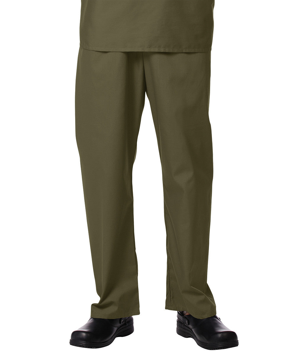 Olive Unisex Scrub Pants Shown in UniFirst Uniform Rental Service Catalog
