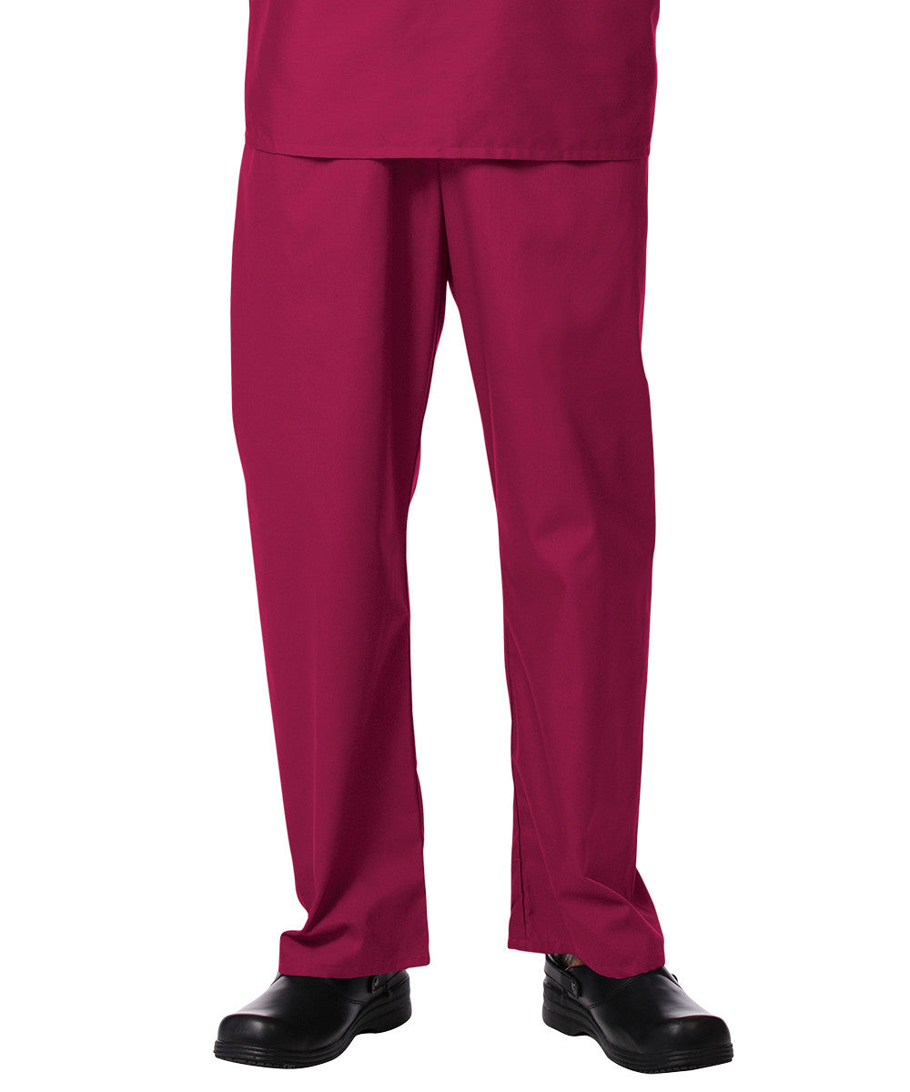 Sangria Unisex Scrub Pants Shown in UniFirst Uniform Rental Service Catalog