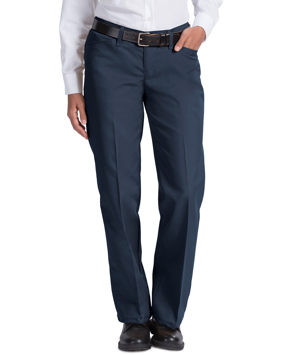 Navy Blue Work NMotion™ Women's Pants Shown in UniFirst Uniform Rental Service Catalog