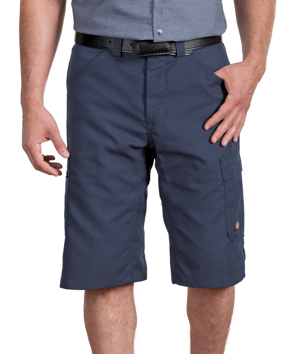Navy Performance Shop Shorts Shown in UniFirst Uniform Rental Service Catalog