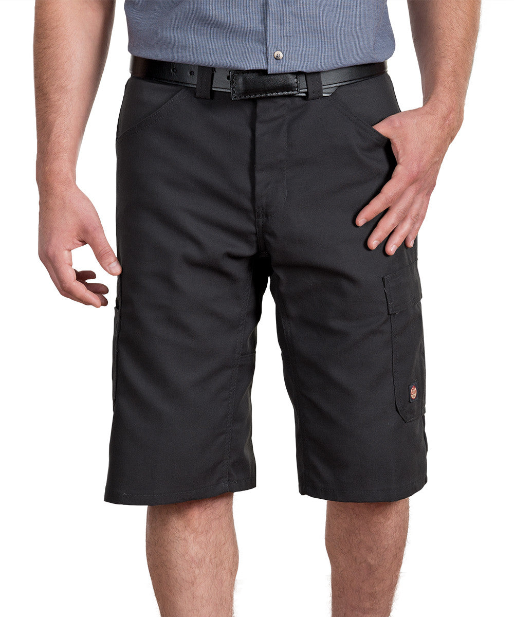 Black Performance Shop Shorts Shown in UniFirst Uniform Rental Service Catalog