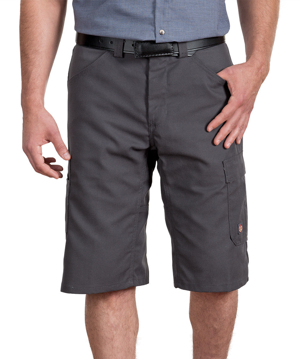 Charcoal Performance Shop Shorts Shown in UniFirst Uniform Rental Service Catalog