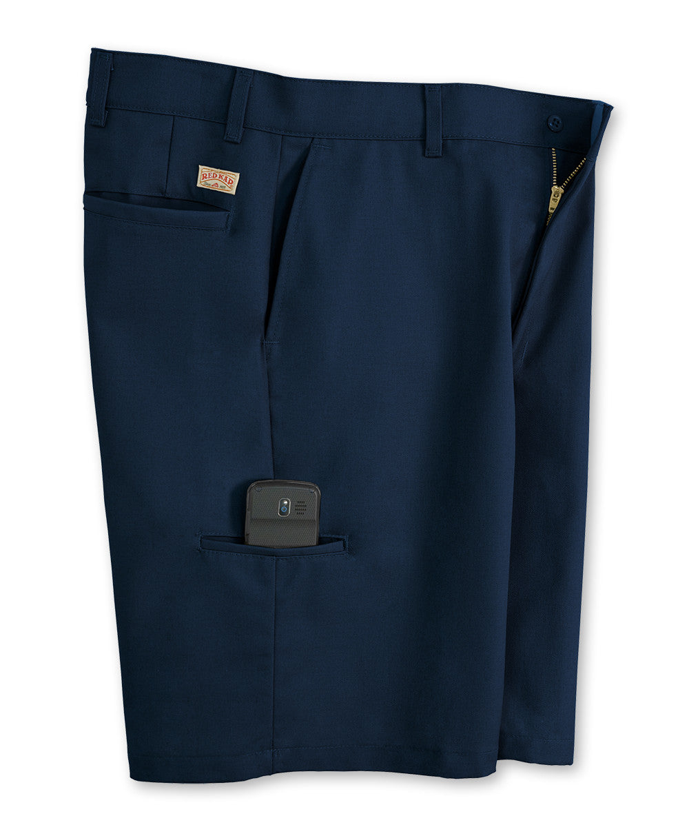 Navy Blue Cell Phone Shorts Shown in UniFirst Uniform Rental Service Catalog