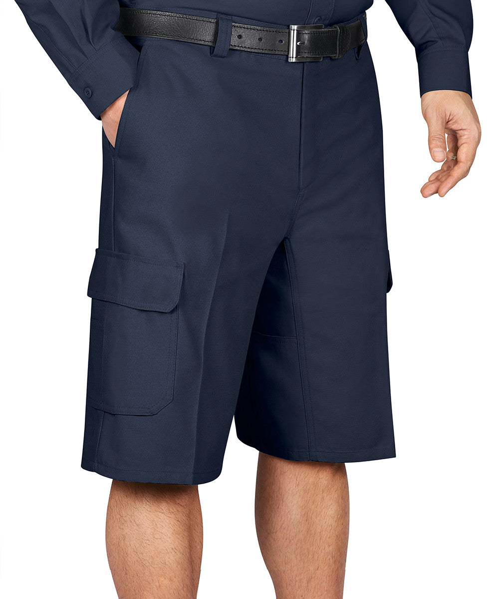 Navy Blue Wrangler Workwear™ Cargo Shorts Shown in UniFirst Uniform Rental Service Catalog