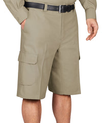 Khaki Wrangler Workwear™ Cargo Shorts Shown in UniFirst Uniform Rental Service Catalog
