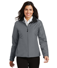 Women's Challenger™ Jackets (Grey/Black) as shown in the UniFirst Uniform Rental Catalog.
