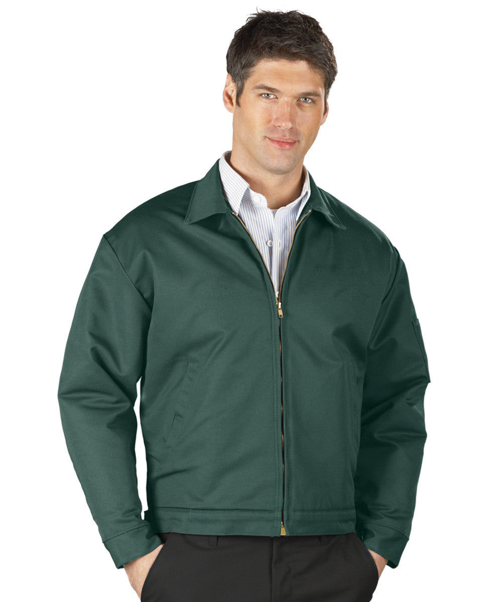 Spruce Green UniWear® Permalined Jackets Shown in UniFirst Uniform Rental Service Catalog