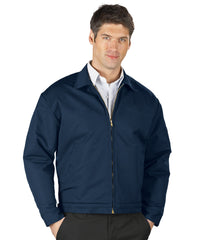 Navy Blue UniWear® Permalined Jackets Shown in UniFirst Uniform Rental Service Catalog