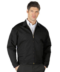 Black UniWear® Permalined Jackets Shown in UniFirst Uniform Rental Service Catalog
