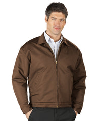 Brown UniWear® Permalined Jackets Shown in UniFirst Uniform Rental Service Catalog