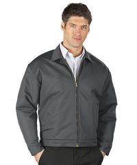 Charcoal UniWear® Permalined Jackets Shown in UniFirst Uniform Rental Service Catalog