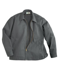 Charcoal UniWear® Ike Jackets Shown in UniFirst Uniform Rental Service Catalog