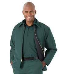 Spruce Green UniWear® Permalined Hip Jackets Shown in UniFirst Uniform Rental Service Catalog