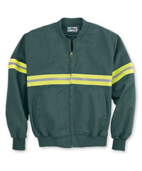 Spruce Green/Yellow Enhanced Visibility UniWear® Jackets Shown in UniFirst Uniform Rental Service Catalog