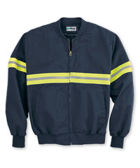 Navy/Yellow Enhanced Visibility UniWear® Jackets Shown in UniFirst Uniform Rental Service Catalog