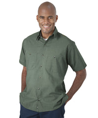 Light Green UniWeave® Soft Comfort MicroCheck ShirtJacs Shown in UniFirst Uniform Rental Service Catalog