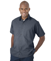 Slate     UniWeave® Soft Comfort MicroCheck ShirtJacs Shown in UniFirst Uniform Rental Service Catalog