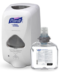 PURELL® Hand Sanitizer Foam (Touchless 1200 mL) with Touchless Dispenser shown in UniFirst Facility Services catalog.