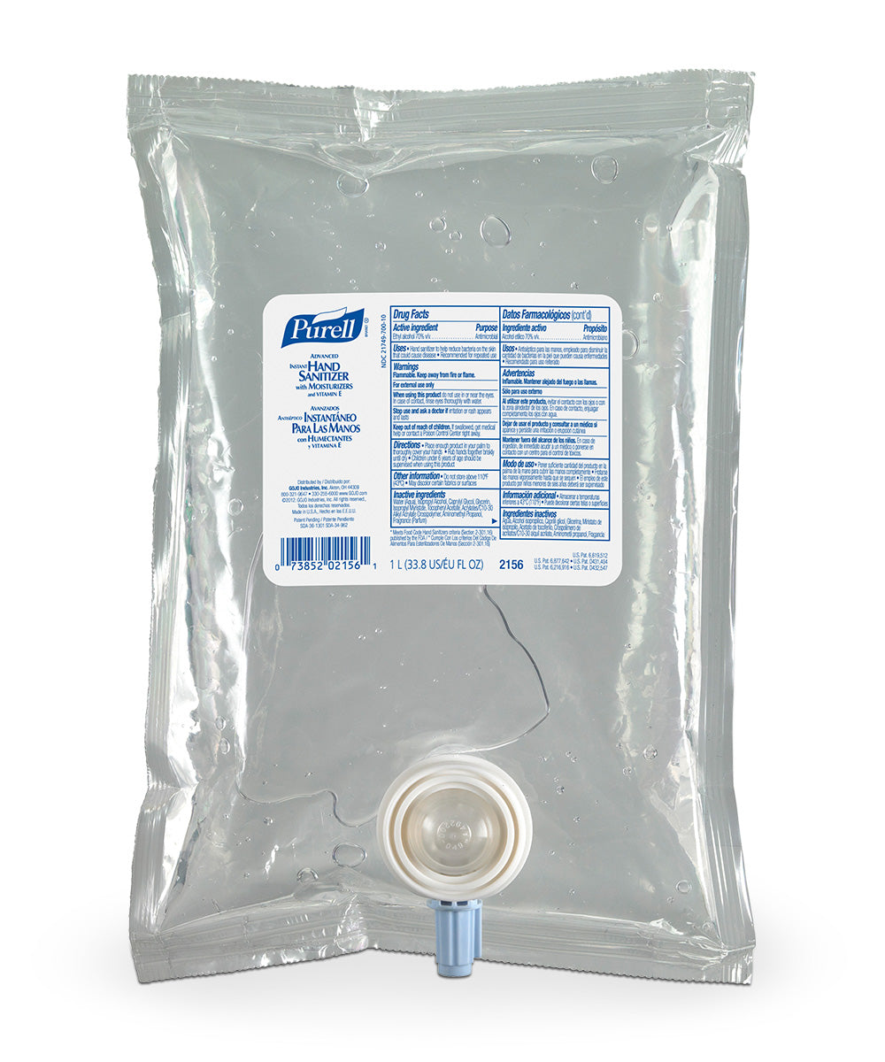 PURELL® Advanced Hand Sanitizer Skin Nourishing Gel (1000 mL) as shown in the UniFirst Facility Services Catalog